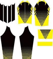 diseño de maillot de ciclismo de manga larga vector