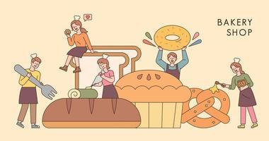 banner de panadería vector