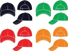 baseball cap vector design