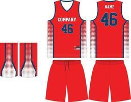 diseño de maqueta de uniforme de baloncesto para club de baloncesto vector