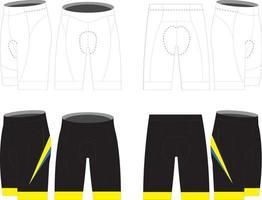 culotte de triatlón de ciclismo para hombre vector