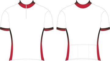 Mountain Bike Short Sleeve Jersey Short zip Mockups vector