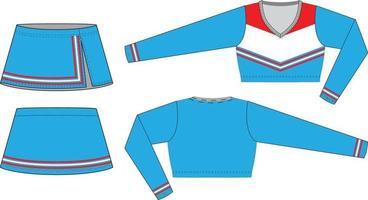 custom design cheerleading uniforms illustration vector