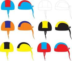 hombres pirata bandana sombrero capucha montar vector
