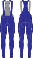 Culottes con tirantes de ciclismo térmico de invierno personalizados para hombre vector