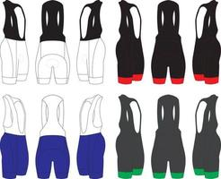 Bicycle Bib Shorts vector