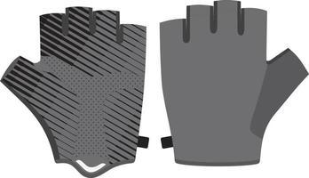 Half Finger Bicycle Gloves mock ups vector