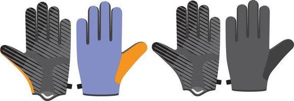 guantes de ciclismo de dedo completo vector