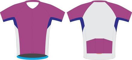 maillot de manga corta para ciclismo de carrera vector