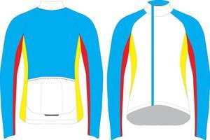 maillot de ciclismo cortavientos de manga larga para hombre vector