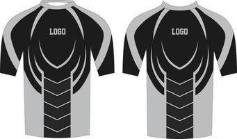 camisa de compresión para hombre maquetas de diseño personalizado vector