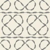 seamless fabic pattern background with monochrome leaves frame vector