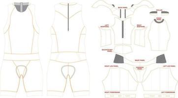 Women Tri Suit Mock up vector