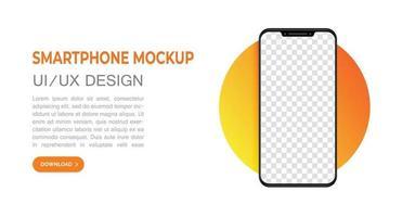 smartphone mock up landing page vector