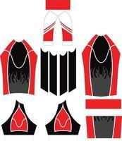 diseño de maillot de ciclismo de manga corta vector