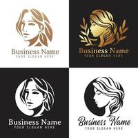 Female logo templates collection ,Women s beauty and fashion logo template Premium Vector