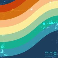 Retro design background with vintage color stripes. Vector illustration