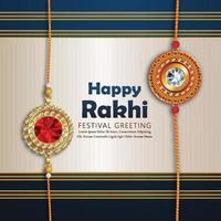 Rakhi card design for Happy Raksha Bandhan celebration vector
