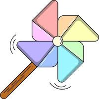cute colorful pinwheel, perfect for design project vector
