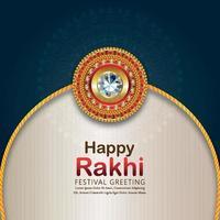 Rakhi design for Happy Raksha Bandhan vector