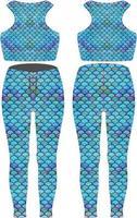 maquetas de leggings de diseño personalizado vector