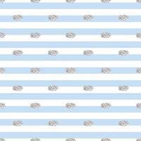 punto de brillo plateado transparente del patrón de forma ovalada sobre fondo de rayas