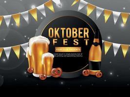 Poster Design for Annual Oktoberfest vector