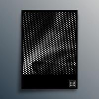 Diseño de patrón de semitonos para flyer, póster, portada de folleto, fondo, papel tapiz, tipografía u otros productos de impresión. ilustración vectorial vector