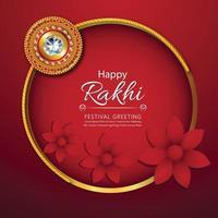 Rakhi design for Happy Raksha Bandhan background vector