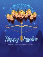 Fondo de celebración de dussehra con ravan