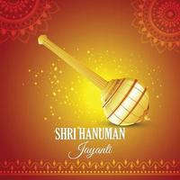 fondo de hanuman jayanti con arma señor hanuman vector