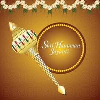 diseño de tarjeta de felicitación de celebración de hanuman jayanti vector