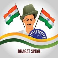Creative illustration of freedom fighter bhagat singh saheedi diwas