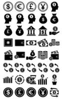 financial icon set template vector