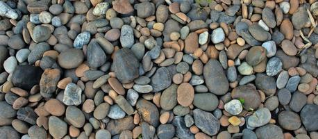 Natural colored pebble stones photo