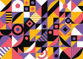 Colorful abstract geometric shape mosaic background vector