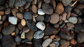 Natural multi-colored pebbles stones photo