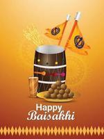 cartel o volante de la celebración del festival sij indio de aisakhi