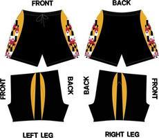 maquetas de diseño de pantalones cortos vector