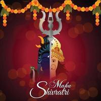 Maha shivratri celebration greeting vector