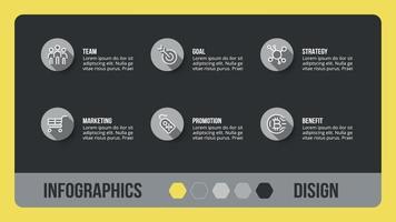 diseño en caja cuadrada. se puede utilizar para una presentación general de negocios o educativa.
