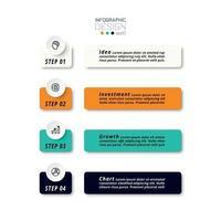información y planes de trabajo con etiquetas cuadradas. se puede utilizar para negocios, educación e informes. vector