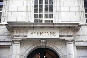 Universidad de la sorbona en París, Francia foto