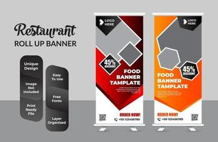 Roll up banner design template abstract design set vector