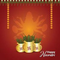 Shubh navratri background vector