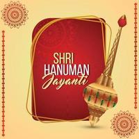 Creative illustartion of hanuman jayanti vector