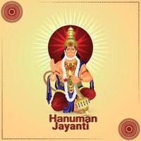 illustartion creativo de hanuman jayanti vector