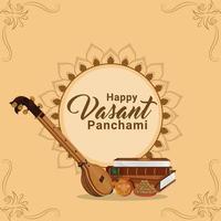 Happy Vasant Panchami celebration background vector