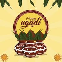 tarjeta de felicitación creativa de gudi padwa