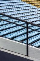 Closeup of the stadium seats photo